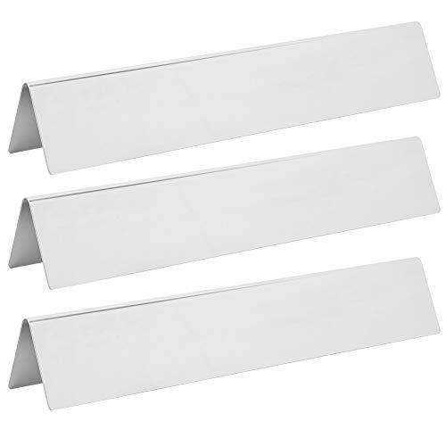 Naroote Gasherdplatte, Austausch der Brennerabdeckung 390 x 67 x 63 mm / 15,4 x 2,6 x 2,5 Zoll Gitterhitzeschild mit hoher Härte für Grillaromastäbe, Vorhänge