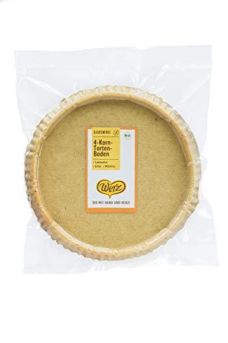 Werz 4-Korn-Vollkorn-Obsttortenboden glutenfrei, 1er Pack (1 x 400 g Packung) - Bio