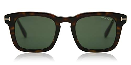 Tom Ford Occhiali da Sole FT0751 52N 50-22-145 uomo avana scuro Lenti verde