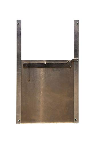 Self-Locking Metal Chicken Coop Door - Chicken House Pop Hole - for Poultry and Ducks