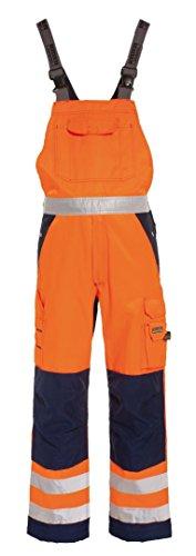 Tranemo 4840-44-93-C60 Latzhose CE-ME HV Größe C60 in orange/marine blau