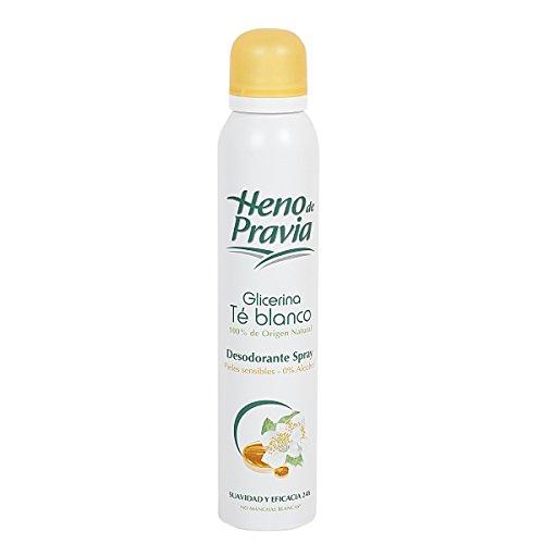 Heno de Pravia desodorante glicerina té blanco piel sensible spray 200 ml
