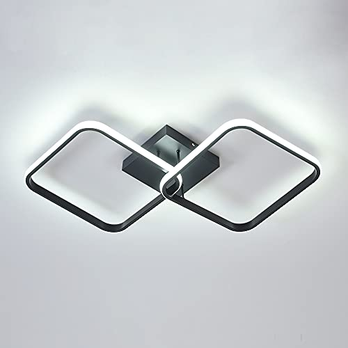 Lámpara de techo LED moderna Osairous, lámpara de techo de acrílico 42W Candelabros LED cuadrados para cocina, comedor, sala de estar, estudio, oficina, 6500K de diámetro 59CM