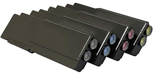 TONER EXPERTE® 4 Toner kompatibel für Dell C2660 C2660dn C2665 C2665dn C2665dnf (Schwarz: 6000 & Cyan, Magenta, Gelb: 4000 Seiten)