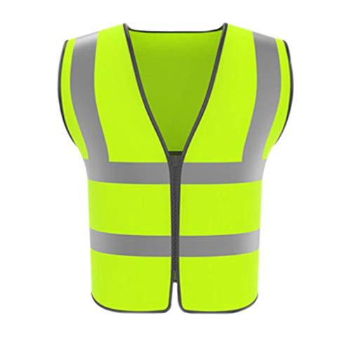 XF Giacche e giubbotti Giubbotto riflettente Estate Maglia traspirante Traffico Sicurezza in bicicletta Abbigliamento Edilizia Sanitizzazione Giubbotto fluorescente Grande capacità Tasca Personalità R