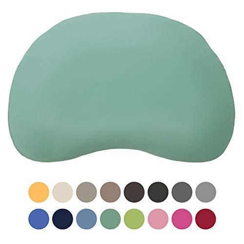 Edda Lux Bezug für Tempur Sonata S/M Kissen | Kissenbezug mit Marken-Reißverschluss | 100% Baumwolle | Farbe Lagune