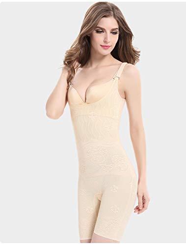Dthlay Bauchweggürtel Frau Bodysuits Weibliche Schönheit Body Shaper Lady Abnehmen Korsett Taillentrainer Bauch Shapewear Plus Size-beige_L