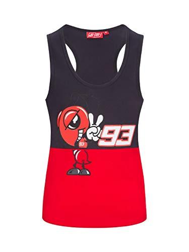 Camiseta de Tirantes para Mujer Marc Marquez 93 Official MotoGP Cartoo