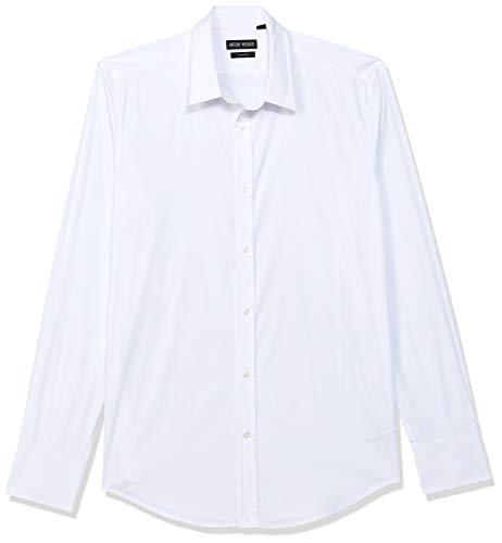 Antony Morato Camicia Basica Abbottonatura A Vista Camisa Casual, Blanco (Bianco 1000), Medium (Talla del Fabricante: 50) para Hombre