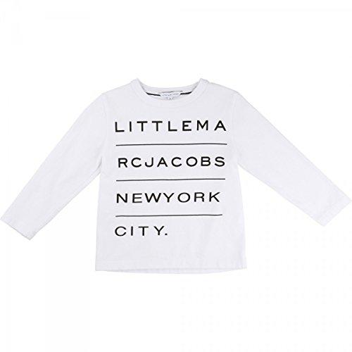 Little Marc Jacobs - T-Shirt Manches Longues Blanc - 8 Ans, Blanc