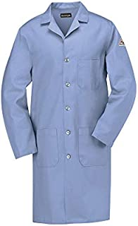 Bulwark KEL2LB-RG-3XL EXCEL FR Flame Resistant Lab Coat, Light Blue, 3X-Large