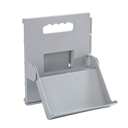 Zapatero de almacenamiento Soporte de zapatos Cuarto de baño Armario Organización Punch Free Wall Montado en casa Almacenamiento Self Stick Soporte Plegable Portada Fácil de montar y ahorrar espacio.