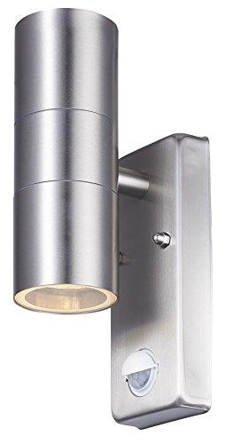 Wandleuchte mit Bewegungsmelder Aussen Edelstahl up & down Wandlampe Außenwandleuchte Gartenlampe