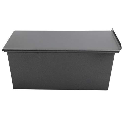 Caja de tostadas - Molde para hornear pan de acero al carbono antiadherente negro con tapa Molde para hornear de cocina con 3 orificios de ventilación