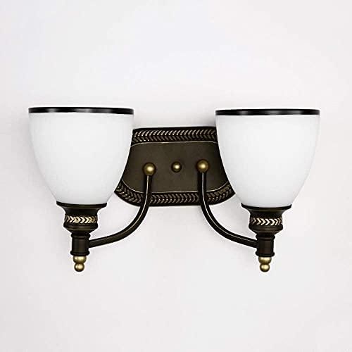 LED retro elegante lámpara de pared doble cabeza pórtico pasillo pasillo comedor sala de estar sala de estar estudio escaleras balcón caliente amarillo luz simple hierro cerámica luces de cerámica