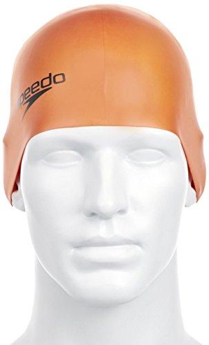 Speedo Badekappe Moud Cap AU - Ropa de natación con protección Solar para Hombre, Color Naranja, Talla DE: One Size