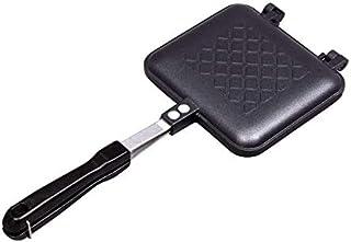 アイリスプラザ ホットサンドメーカー 直火 ガス火専用 1枚焼き お手入れ簡単 ブラック