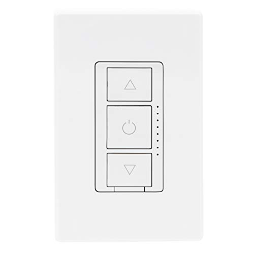 Luvoni WiFi Smart Dimmer Switch 3-Way/Single Pole Electrical light Switch 3 Button, 300 Watt max, LED Compatible, Screwless Wall Plate Included, Compatible with Alexa, by Maxxima
