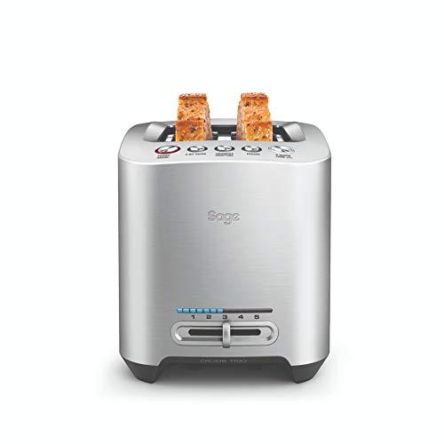 Sage Appliances STA825 the Smart Toast, 2 Scheiben Toaster, Gebürstetes Edelstahl