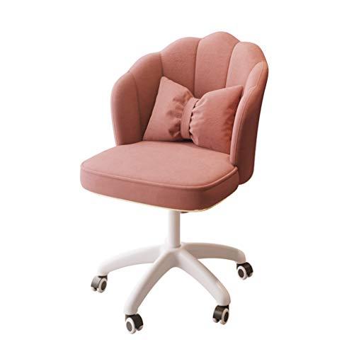 Kontorsstol med mellanrygg justerbar höjd, metallfot roterande sammet hushåll stoppad fåtölj, kontorsmöbler (flerfärgad tillval)