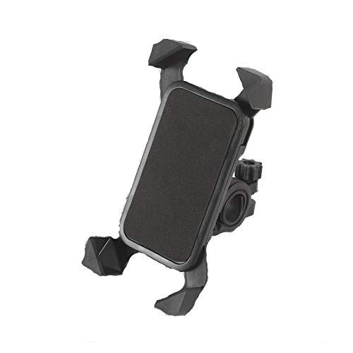 GBHD Soporte giratorio de 360 grados para teléfono móvil de bicicleta, soporte de montaje para teléfono inteligente, soporte universal ajustable para bicicleta (color: negro)