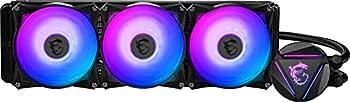 MSI MAG Series CORELIQUID 360R aRGB CPU Liquid Cooler  AIO   Rotatable Blockhead Design 360mm Radiator Triple 120mm aRGB PWM Fans