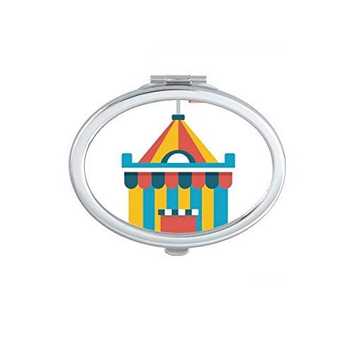 DIYthinker Geweldig Grappig Park Tent Illustratie Ovaal Compact Make-up Spiegel Draagbare Leuke Hand Pocket Spiegels Gift