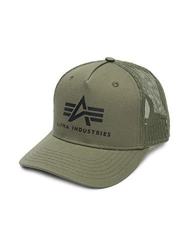 Alpha Industries Herren Trucker Caps Basic grün Verstellbar
