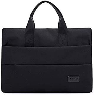 JAUROUXIYUJI Oxford Cloth Computer Bag 16 Inch Portable Briefcase Ladies Fashion Ultra-Thin Wearable Casual Cloth Bag (Color : Black, Size : 14 inches)