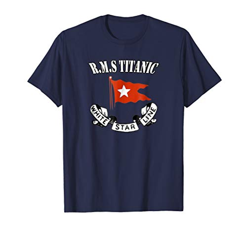 Titanic T-Shirt White Star Line Ship Atlantic Ocean Voyage