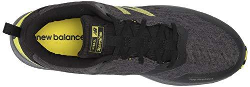 New Balance Men's Nitrel V3 Trail Running Shoe, Black/Yellow, 11 D US 5