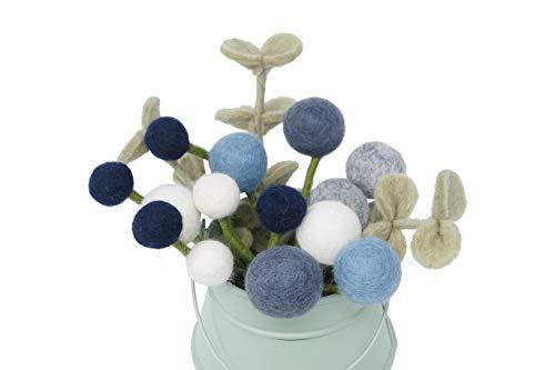 Én Gry & Sif Flores de estilo escandi, fieltro natural, mano de mada justa, decoración de Pascua, ramo de flores Ida