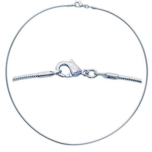 Les Trésors De Lily [M7286] - Silber halskette 'Omega' - 42 cm 2 mm (rhodium).