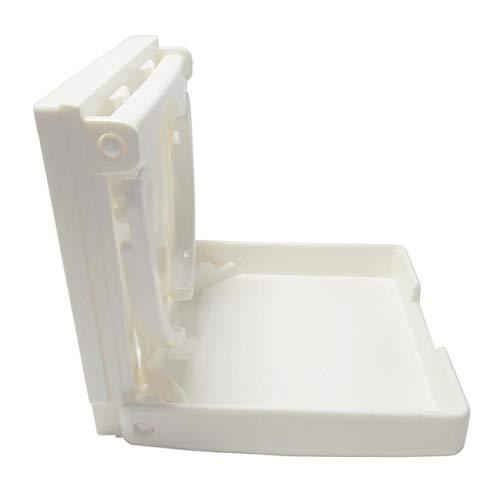 prasku Portavasos de Bebida de Nailon Blanco Plegable Ajustable para Barco/Marino/Caravana/RV