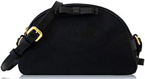 Prada Black Bandoliera Fabric Logo Jacquard Small Crossbody Bag 1BH125 product image
