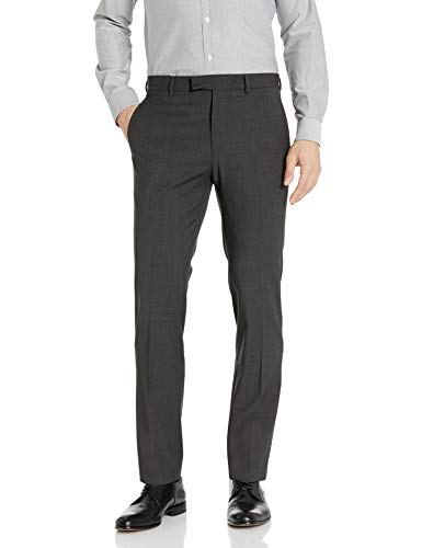 Kenneth Cole New York Men's Performance Stretch Wool Suit Separates-Custom Top and Bottom Size Selection, Charcoal Grey Pant, 36Wx32L