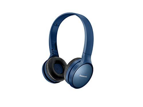 Panasonic RP-HF410BE-A - Auriculares Inalámbricos Minimalistas (Bluetooth, Unidad Control 30 mm, Imán de Neodimio, Plegable, 20h Duración, Control Voz, Carga Rápida), Color Azul