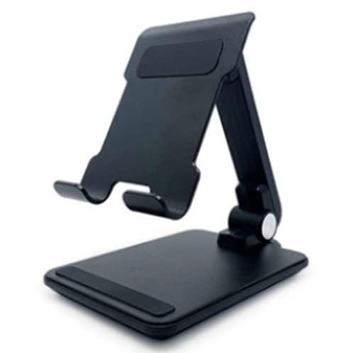 Soporte Móvil Mesa Soporte Teléfono de Escritorio Base Móvil de Aluminio para iPhone Xiaomi Samsung Huawei iPad Mini y Otras Smartphones,Black