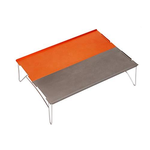 XIAOLVSHANGHANG CJ Table Pliante en Aluminium de Camping, Mini-Pique-Nique s'élevant extérieur portatif de Partie de Barbecue de Jardin