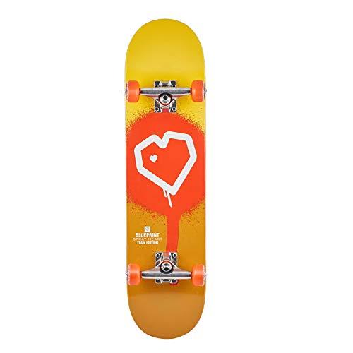 Blueprint Skateboard Komplettboard Spray Heart 7.75