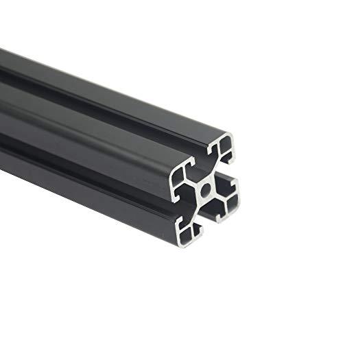 Iverntech 1 pz 700mm 4040 Standard Europeo Anodizzato Profilo Alluminio Nero Estrusione Lineare Rail con 40 Serie 8mm Slot per Stampante 3D e CNC DIY Laser Incisione Macchina