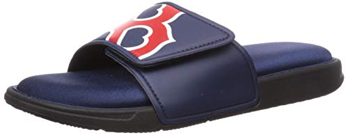 MLB Boston Red Sox Mens SMU Big Logo Foam SLIDESMU Big Logo Foam Slide, Team Color, L