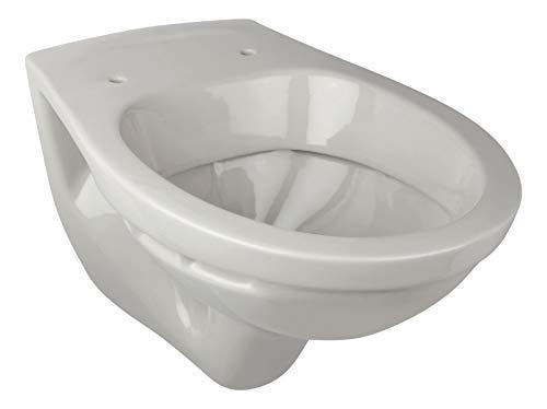 Calmwaters® - Hänge-WC in Manhattan-Grau als Tiefspüler mit waagerechtem Abgang, Tiefspül-WC, Wand WC, Wandtoilette, Hängetoilette, Tiefspül-WC - 08AB2308