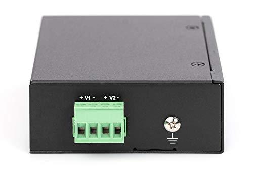 DIGITUS PoE++ Splitter - IEEE802.3af/at/bt - Gigabit Ethernet - Ausgang 12, 16, 24, 48 Volt - Terminalblock-Klemmleiste
