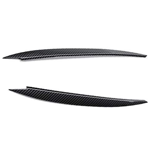 HJPOQZ Ajuste de la Cubierta del párpado de la ceja del Faro 43x3cm Pieza de Repuesto para automóvil de Fibra de Carbono ABS, para VW Golf 7 VII GTI GTD R MK7 2013-2017