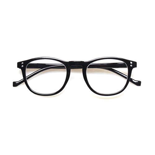 HaiShan HSYJ Mode Rechteckige Lese for Männer Und Frauen Frühlings-Scharnier-Bunte Gedrucktes Brillenfassungen -6.19.5 (Color : Black, Size : +250)