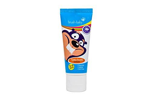 Brush-Baby Tutti Frutti Zahnpasta fur Kinder, 3+ Jahre Zahnbürste, 3x 50ml