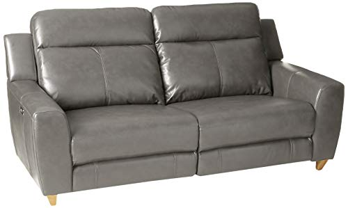 ACME Cayden Gray Leather-Aire and Power Reclining Sofa