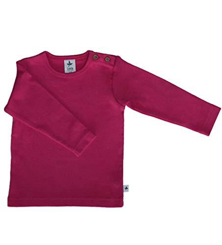 Leela Cotton Baby Kinder Langarmshirt Bio-Baumwolle GOTS 13 Farben T-Shirt Shirt Jungen Mädchen Gr. 50/56 bis 140 (62/68, pink)