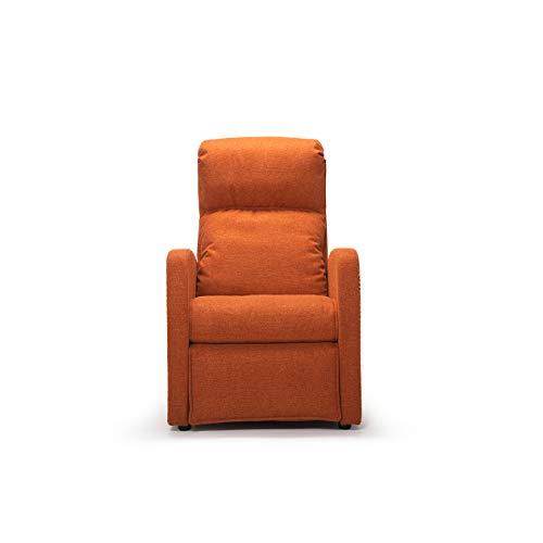Sillón Relax | Cleopatra | Naranja | Fabricado en Italia